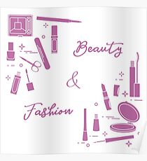 Decorative cosmetics. Accessories for nail care. Poster