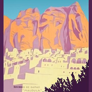 La Syrie et Le Liban Affiche L'Art Déco by Goosekaid