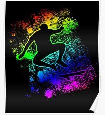 Skateboarding T-shirt Cool Silhouette Skater Tee Gay Poster