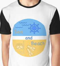 Summer rest. Equipment for diving. Yachting. Graphic T-Shirt