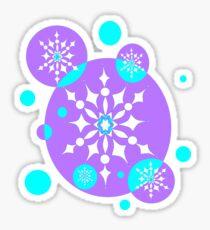 A Snowflake Design in Lavender and Aqua Blue Sticker