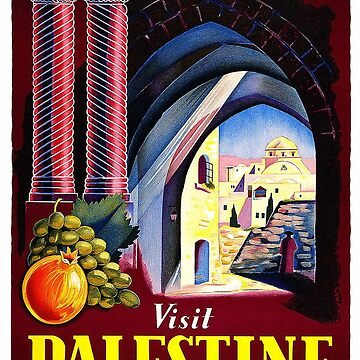 Art Deco Palestine Poster 2 by Goosekaid