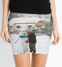 French cottage Merry Christmas Mini Skirt