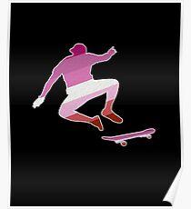 Skateboarding T-shirt Cool Silhouette Skater Tee Lesbian Poster