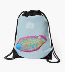 Save the Fish - Detroit become Human (Good for Coloured shirts) Drawstring Bag