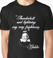 Thunderbolt and Lightening Very Very Frightening Bohemian Galileo Funny Rock Music Design Graphic T-Shirt