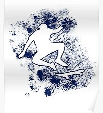Skateboarding Gift Apparel Skateboarding T-shirt Cool Silhouette Skater Tee Gifts boys Poster