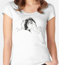 Elio and Oliver CMBYN Call me By Your Name line art Women's Fitted Scoop T-Shirt