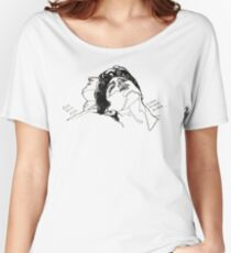 Elio and Oliver CMBYN Call me By Your Name line art Women's Relaxed Fit T-Shirt
