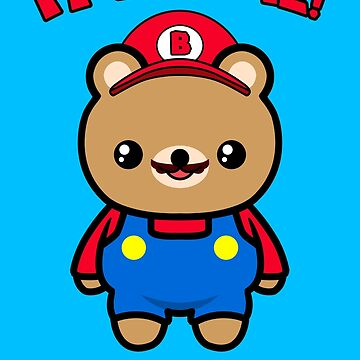 Bear Cute Funny Kawaii Mario Parody by awesomekawaii