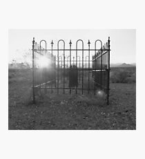 Small town grave yard Photographic Print