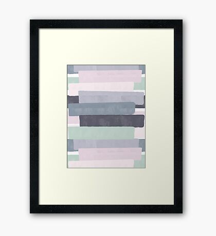 Peaceful #redbubble #abstractart Framed Print