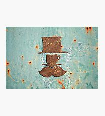 Rusty coffee shop sign Photographic Print