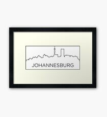 Johannesburg city outline Framed Print