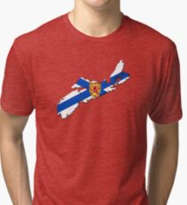 Nova Scotia Flag Map  Tri-blend T-Shirt
