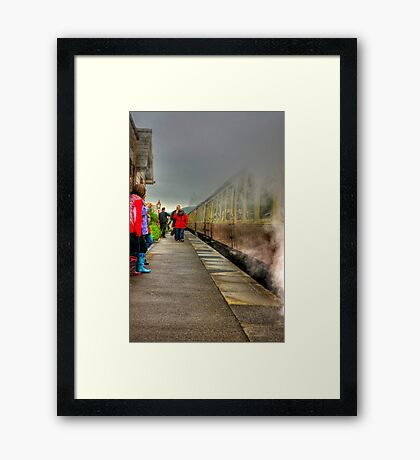 On The Platform  - Levisham Station Framed Print