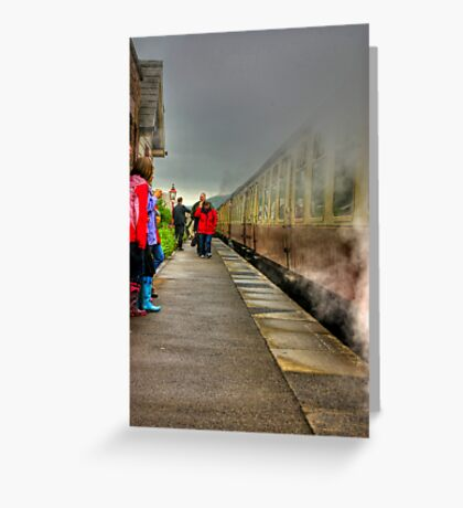 On The Platform  - Levisham Station Greeting Card