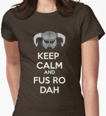 Keep Fus Ro Dah Women's Fitted T-Shirt