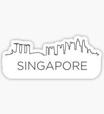 Singapore city outlin Sticker