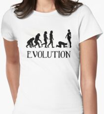Femdom BDSM Evolution Women's Fitted T-Shirt