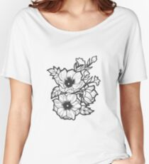 Flower illustration Women's Relaxed Fit T-Shirt