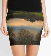 The Lake in November Mini Skirt
