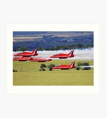 R.A.F. Red Arrows Grouped Low Art Print
