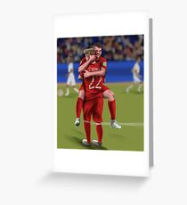 Football Robron Greeting Card
