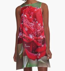 Rose with dew drops A-Line Dress