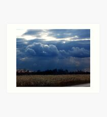 Corn Fields and Storms Art Print