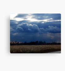Corn Fields and Storms Canvas Print