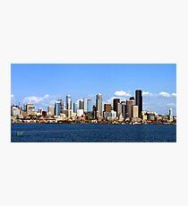 Seattle Skyline Ten Photographic Print