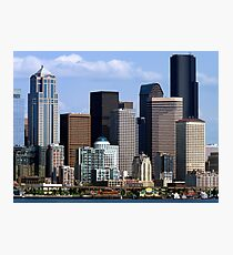 Seattle Skyline Two Photographic Print