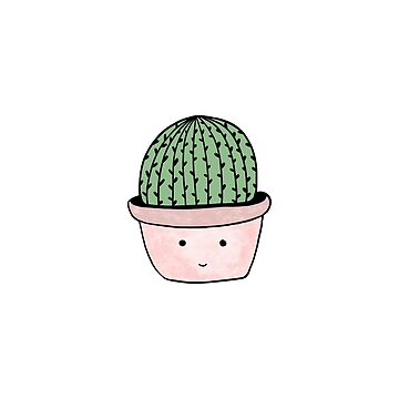 Cute smiling cactus  by bigmoments