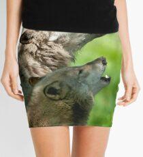 Timber Wolf Howl Mini Skirt