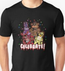 Five Nights At Freddy's Celebrate! Slim Fit T-Shirt