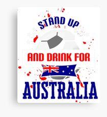World Cup T-shirt Australia Canvas Print