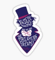Willy Wonka Dreamers of Dreams Sticker