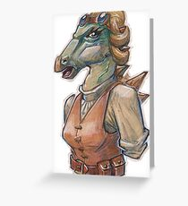 Polacanthus engineer Greeting Card