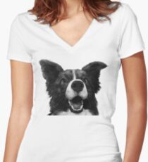 Who's a good boy? Fitted V-Neck T-Shirt