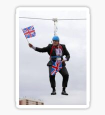 Boris Johnson Zipline Sticker