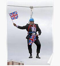 Boris Johnson Zipline Poster