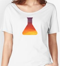Evening Skies Science Beaker Women's Relaxed Fit T-Shirt