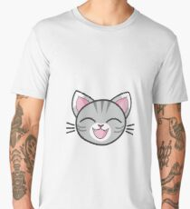Happy Grey Kitty Sticker! Men's Premium T-Shirt