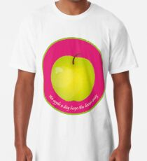 An apple a day keeps the Doctor away T-shirt long