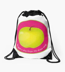 An apple a day keeps the Doctor away Sac à cordon
