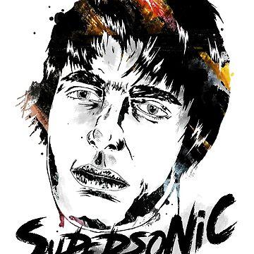 Liam Gallagher - Supersonic Design  by MarshallArtt