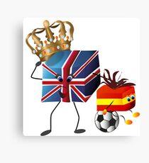 Great Britania - the big fan Canvas Print