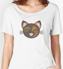 Happy Tortie Kitty Sticker! Women's Relaxed Fit T-Shirt