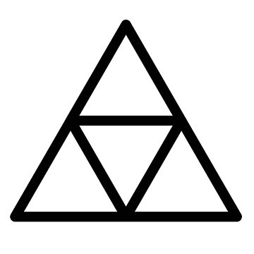 minimalist triforce by tree-of-sorts